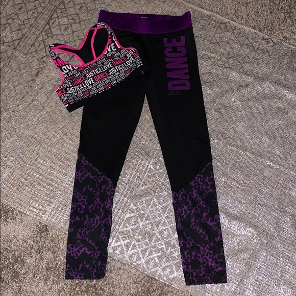 Justice Other - Justice Leggings (12) and Bra Top (10) Pre Owned